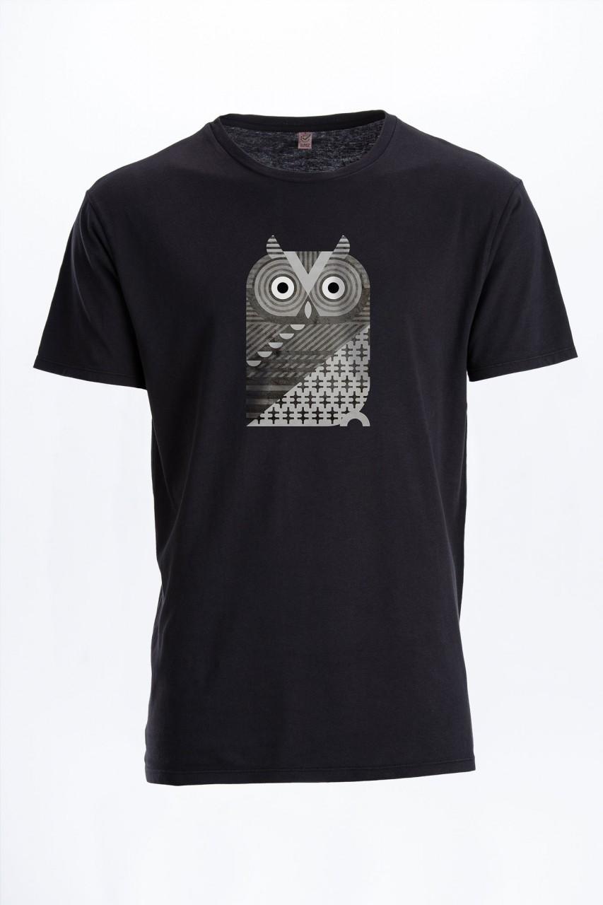 Western Screech Owl Vintage Männer T-Shirt