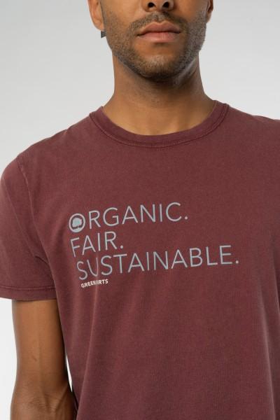 Vintage Washed T-Shirt für Männer OFS Print