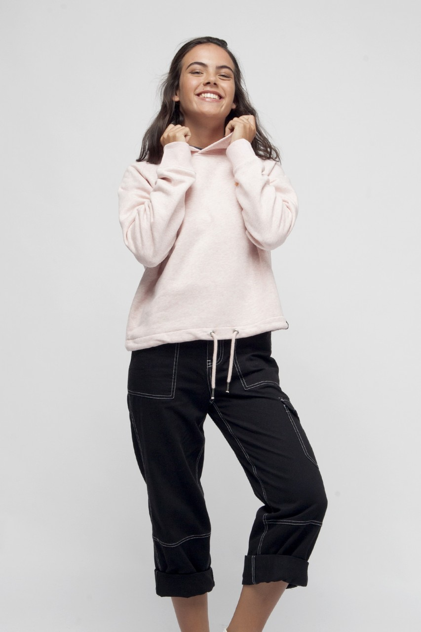 Cropped Sweater mit Kordeln für Frauen