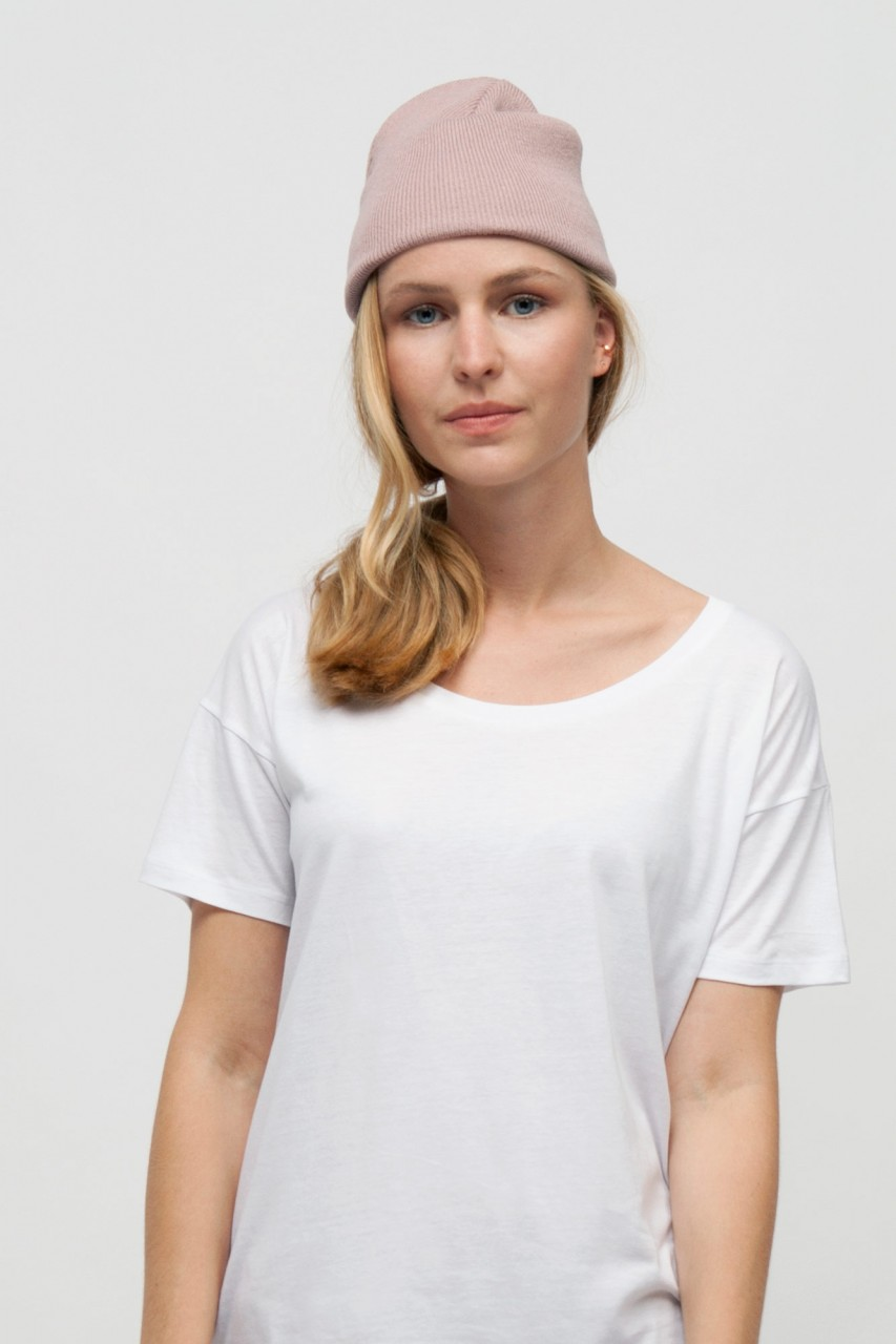Wide Cut Bio Holz T-Shirt Frauen