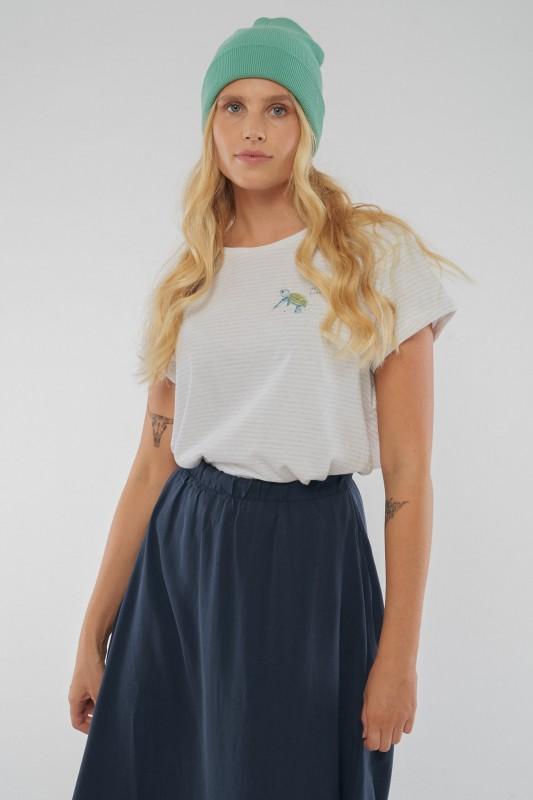 Baby Turtle Striped T-Shirt für Frauen