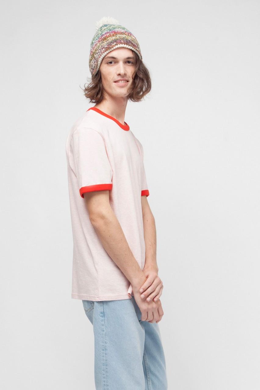T-Shirt mit bunten Ärmelbündchen