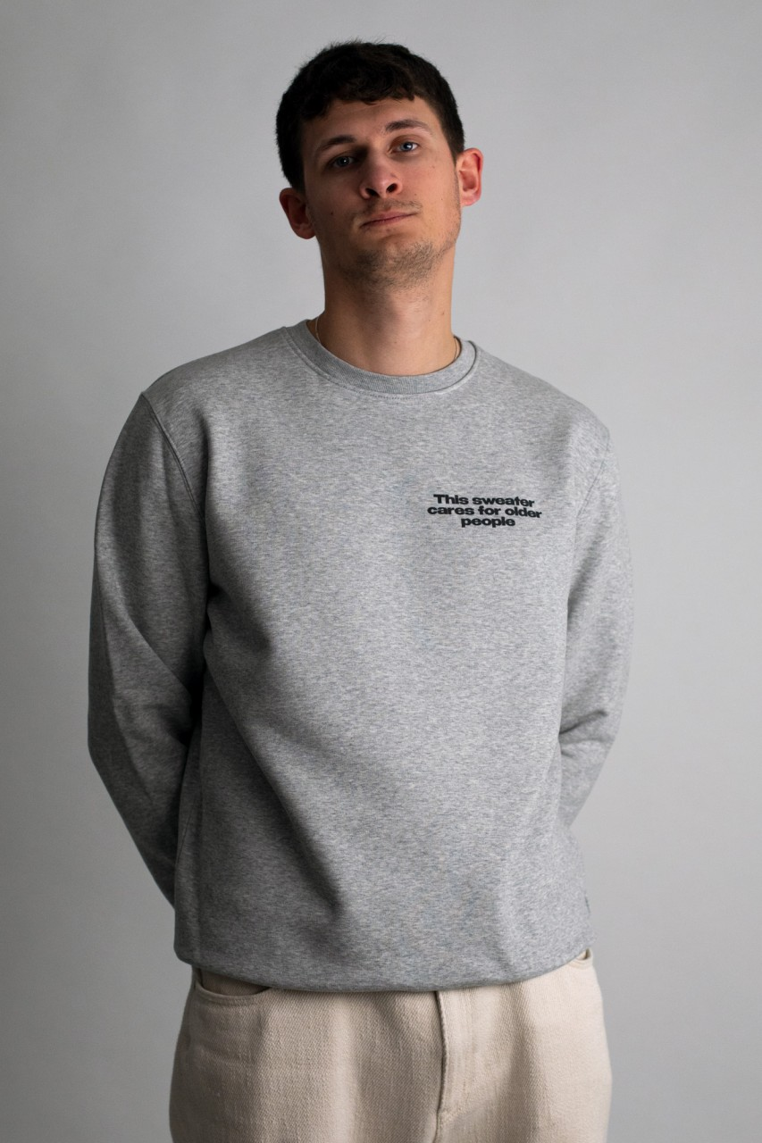 This sweater cares for older people
