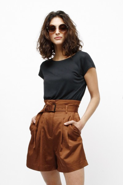 Wide T-Shirt aus Holz für Frauen