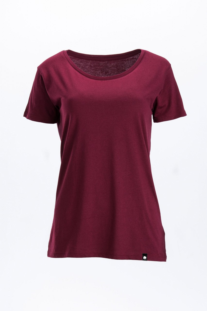Faires Frauen Open Neck T-Shirt
