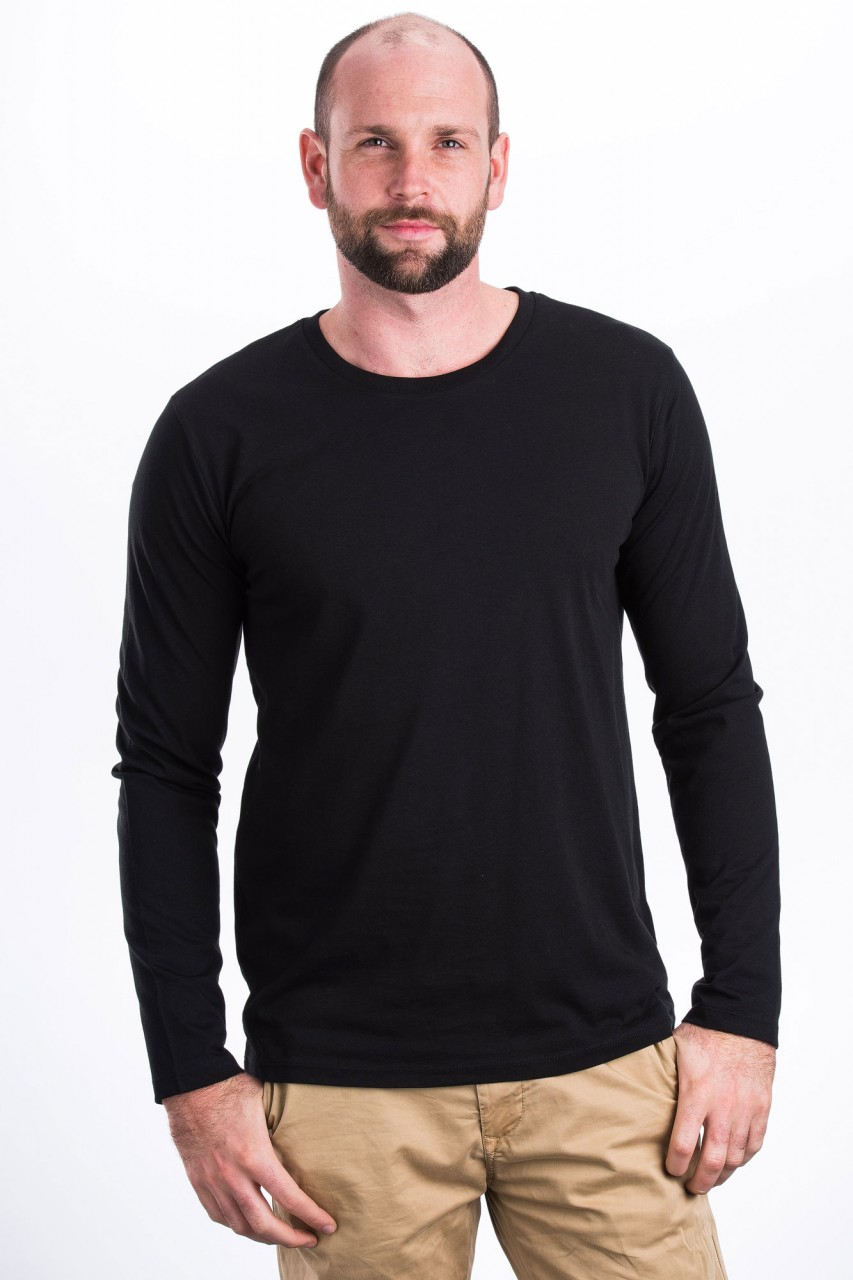 Longsleeve Männer Farbig Bio Mode