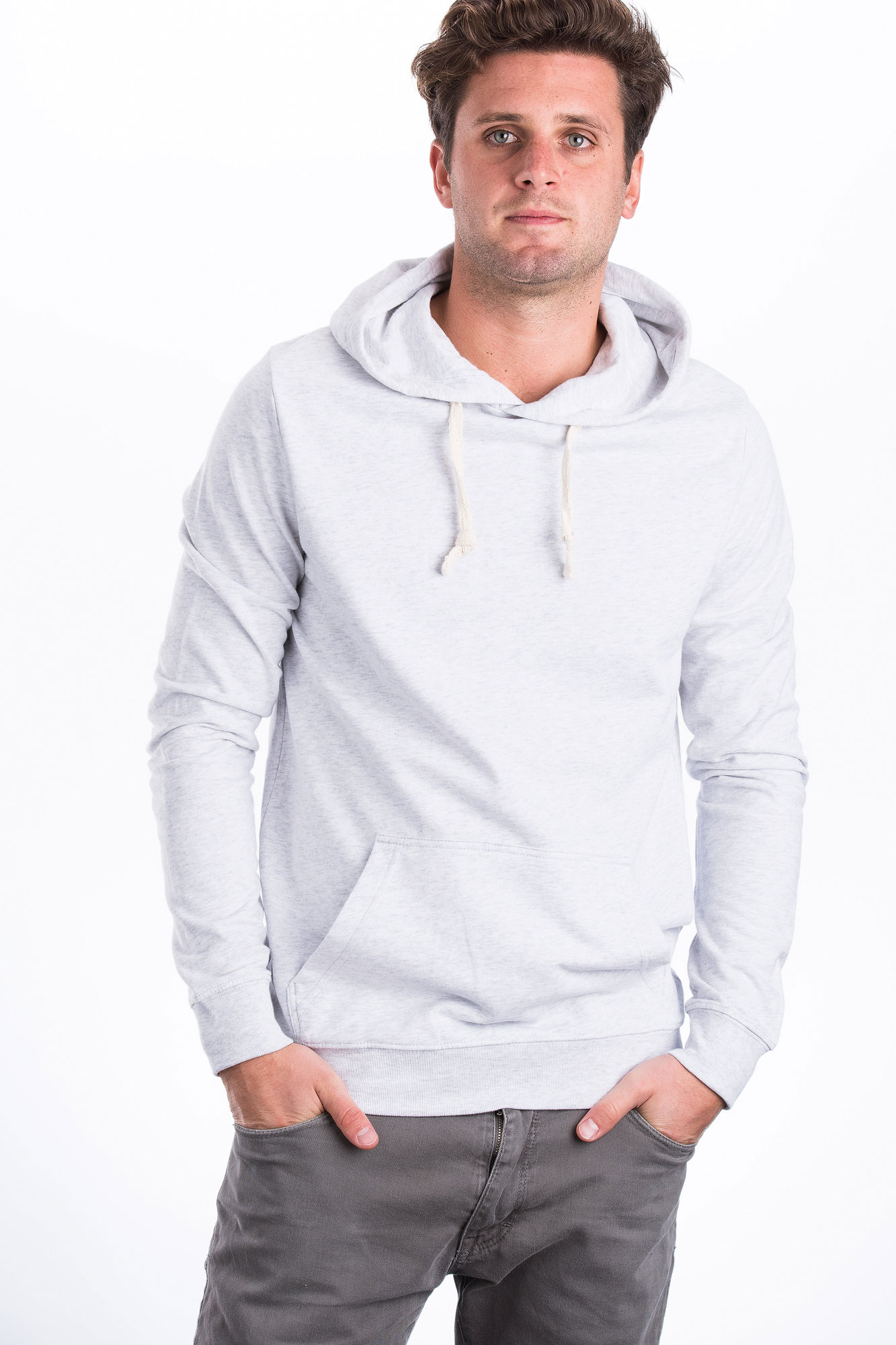 M-STST801-Hoodie-Duenn-Fleece-Naturmode-Heather-Ash