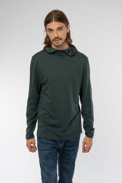 Super Active Hooded Longsleeve aus TENCEL™ & Bio Baumwolle