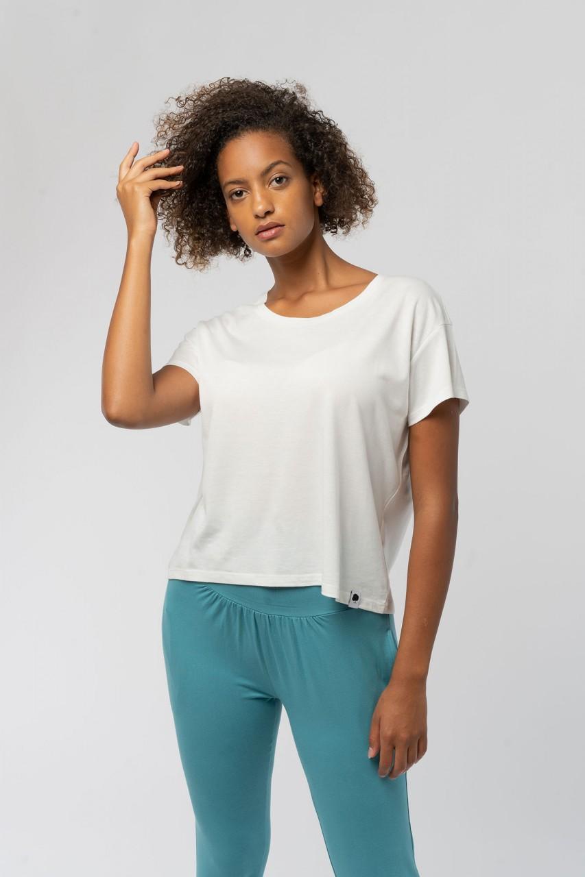 Boxy Frauen ECOVERO™ T-Shirt aus Holz