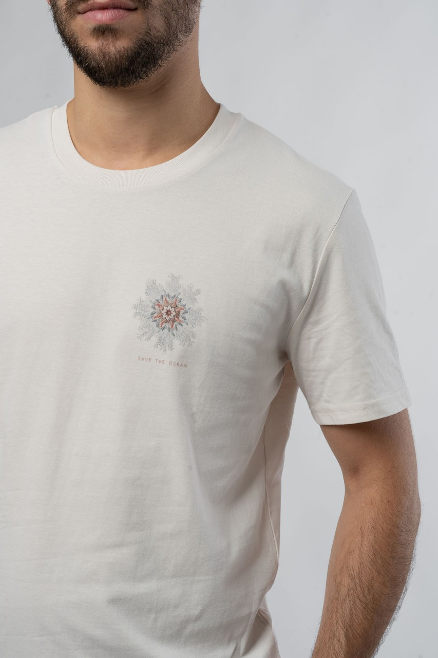 Sea Flower Vintage White Männer T-Shirt
