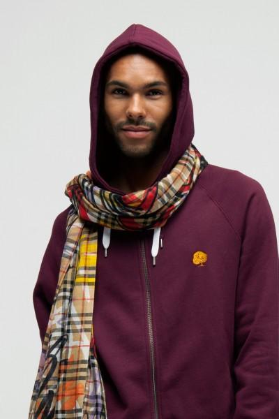 Fair Trade Zipper mit Kapuze für Männer