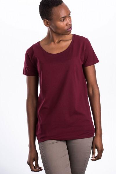 Faires Frauen Open Neck T-Shirt