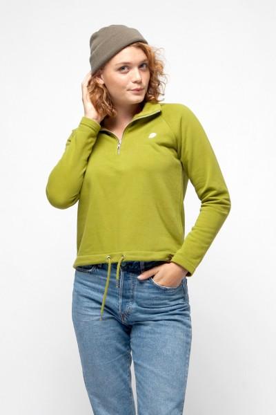 Zip Sweater mit Kordeln für Frauen