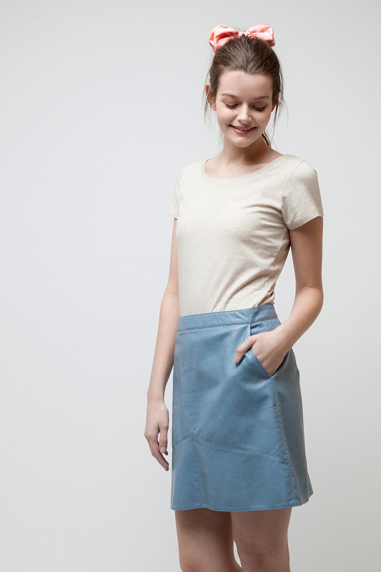 W-STTW028-T-Shirt-Basic-Naturmode-Mid-Heather-Beige-Detail