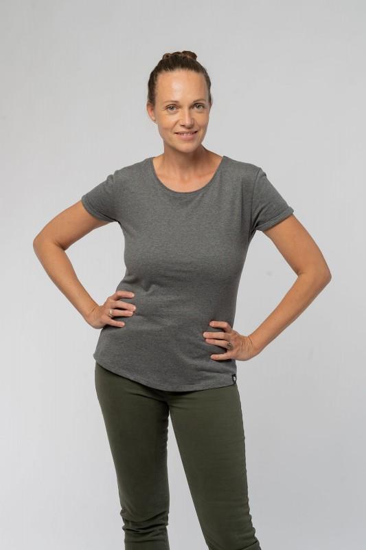 Ladies Roll Up Sleeve T-Shirt aus Bio Baumwolle