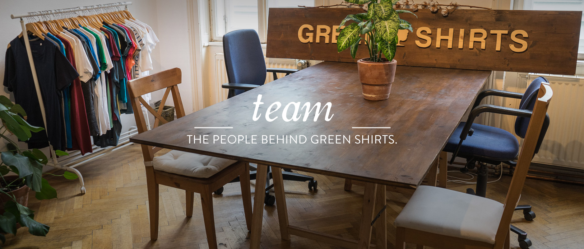 people-behind-green-shirts-team-green-company