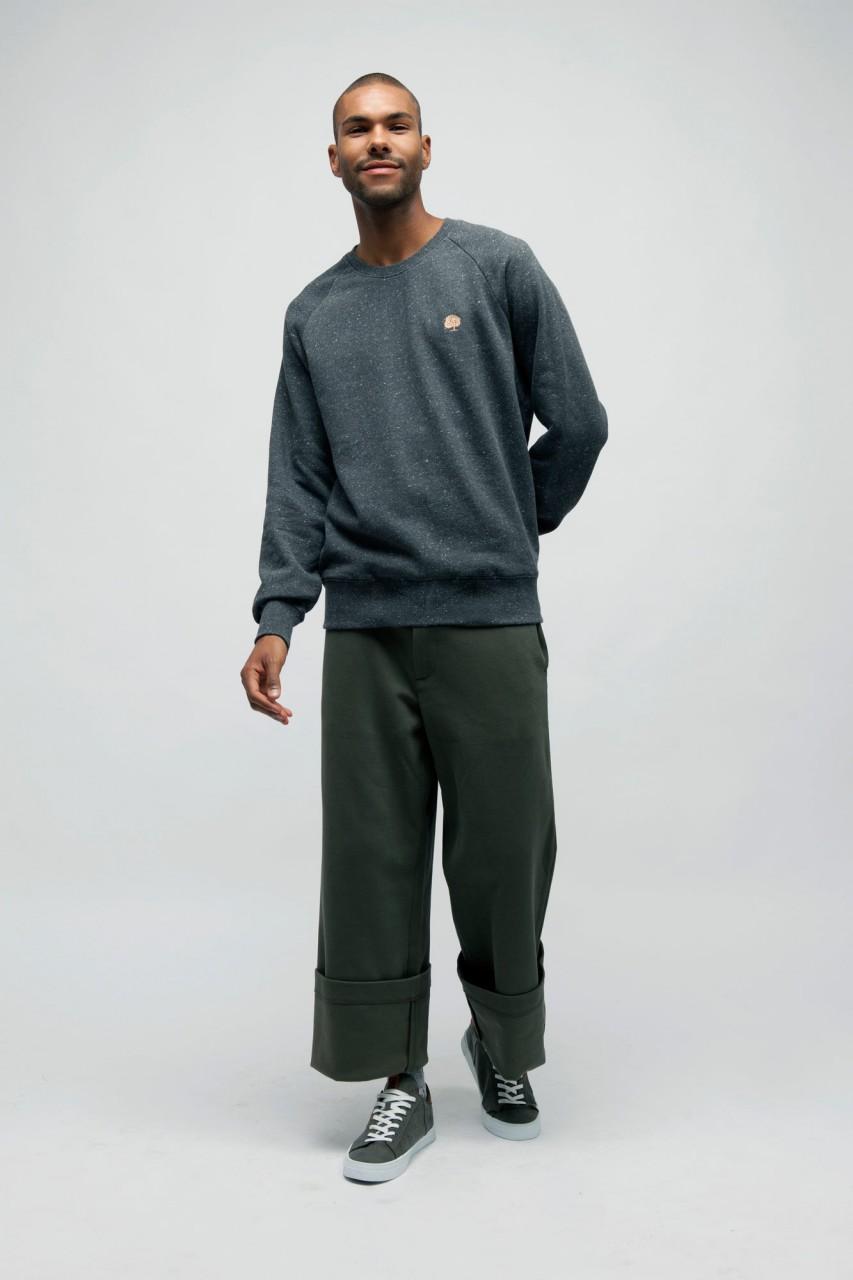 Gepunktetes Sweatshirts aus Bio Baumwolle