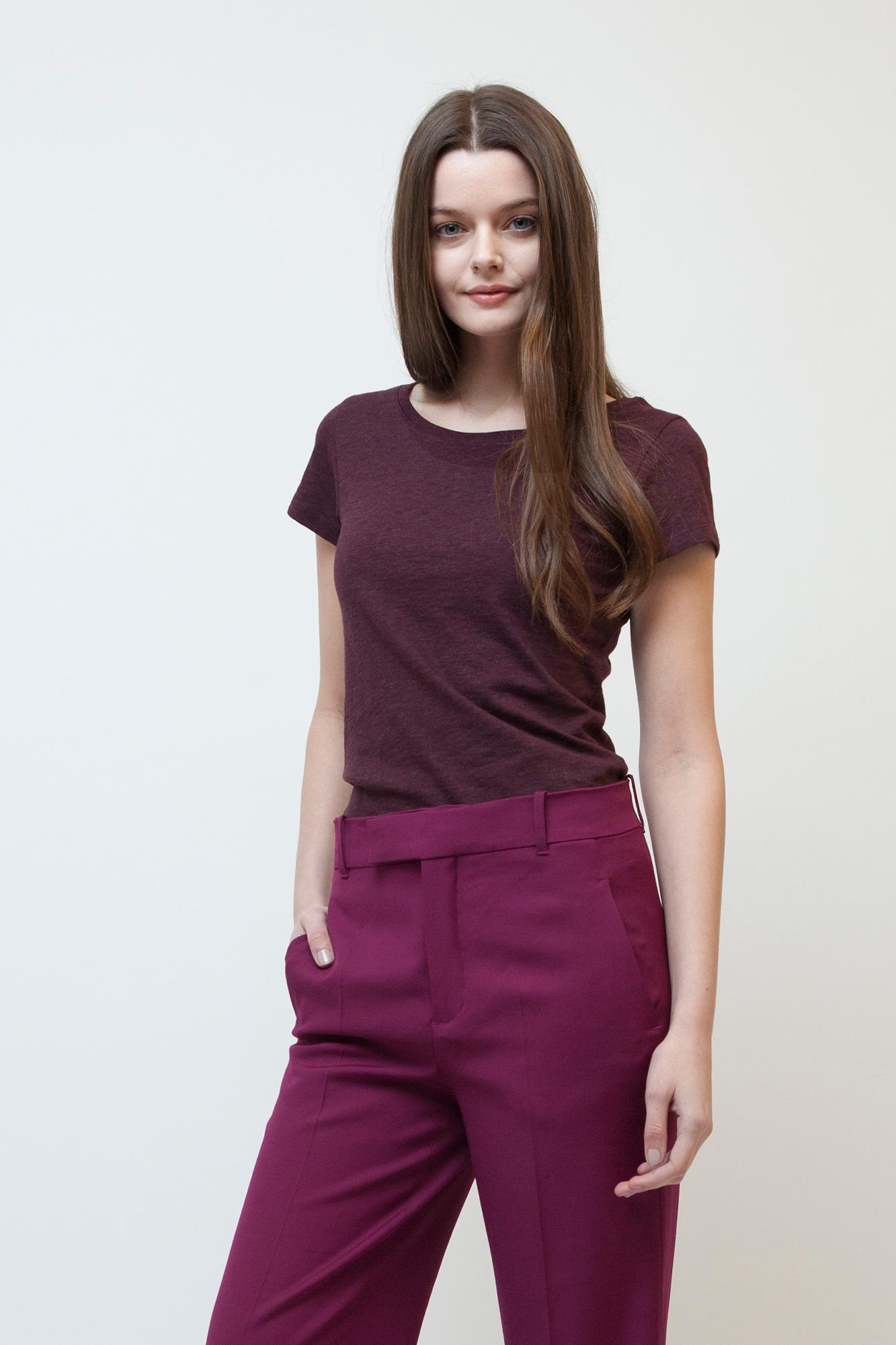W-STTW028-T-Shirt-Basic-Naturmode-Heather-Grape-Red-Vorne-Detail