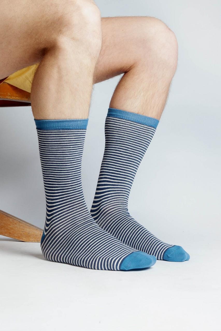 Gestreifte Socken aus Bio Baumwolle für Herren