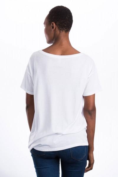 Grünes Herz Wide T-Shirt für Frauen
