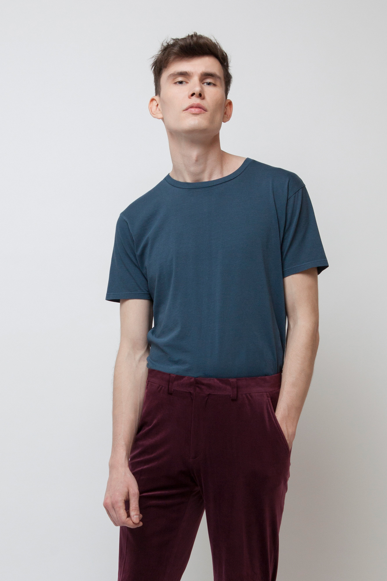 M-EP30-Maenner-T-Shirt-Vintage-Fair-Trade-Dyed-Denim-Detail