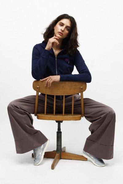 Nachhaltiger Kapuzensweater mit Zip für Frauen