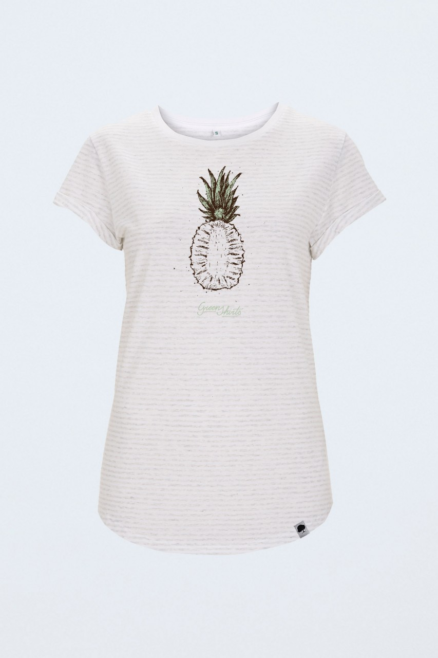 Vintage Pinetree T-Shirt für Frauen Rolled Sleeve