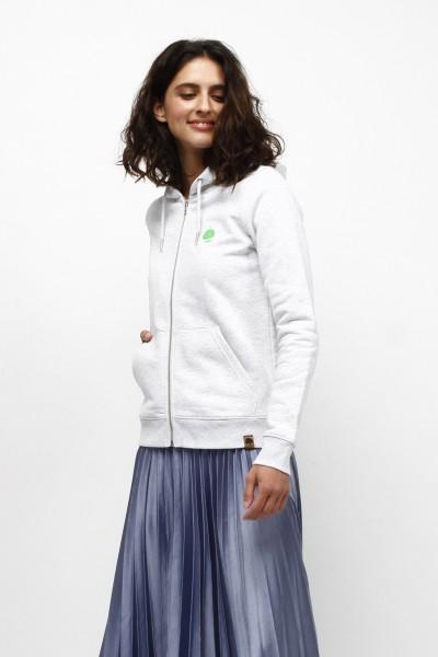 Nachhaltiger Kapuzen Sweater mit Zip für Frauen