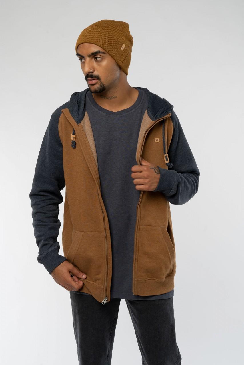 Zip Hoodie aus Baumwolle & recyceltem Polyester