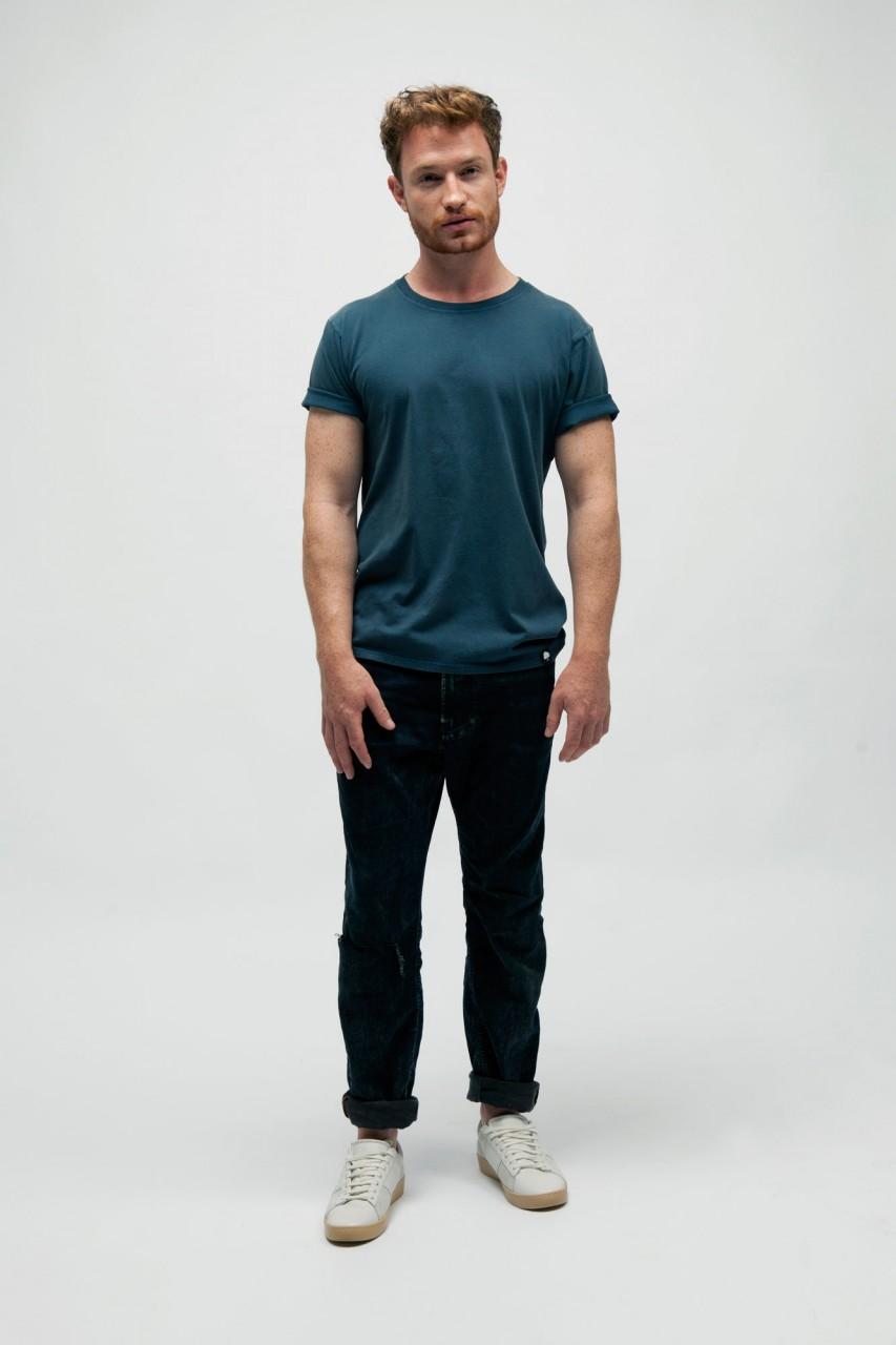 Vintage Washed T-Shirt für Männer aus Bio Baumwolle