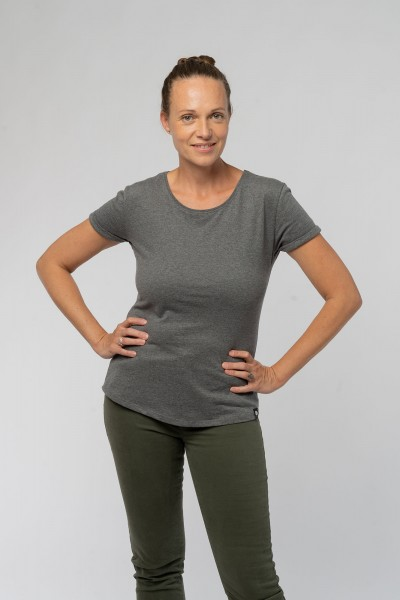 Ladies Roll Up Sleeve T-Shirt aus Bio Baumwolle